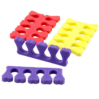 Colorful Soft Foam Sponge Nail Art Finger Toe Separators For Dividers Nail Art Manicure Pedicure Nail Gel Tool LY007