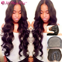 4x4 Silk Base Middle Part 150% Density 100% Virgin Indian Remy Human Hair Tangle Free Body Wave Full Lace Wigs For Black Women