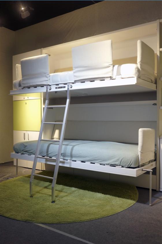 Kinderkamer Fold Away Stapelbed Muur Bed Twin Muur Murphy