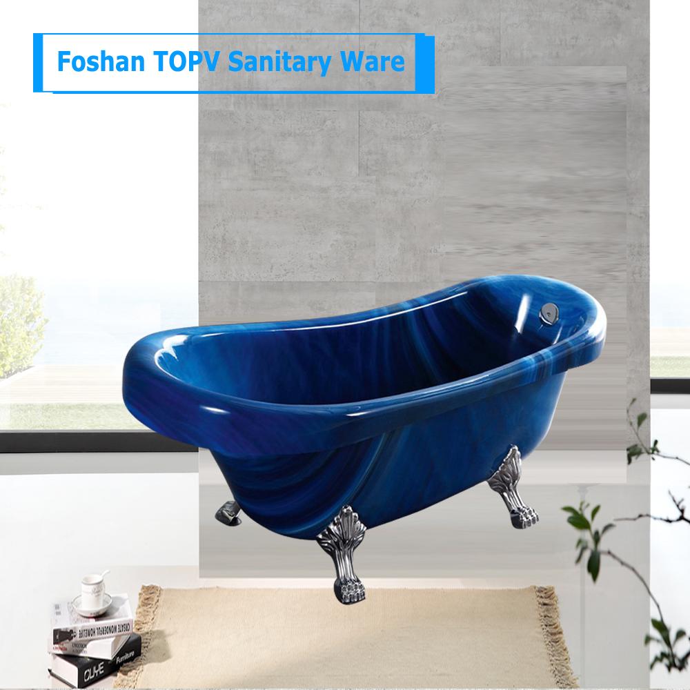 Vendita calda 170 cm casa vasche da bagno in acrilico con freestanding vasca da bagno in rame - Vendita vasche da bagno ...