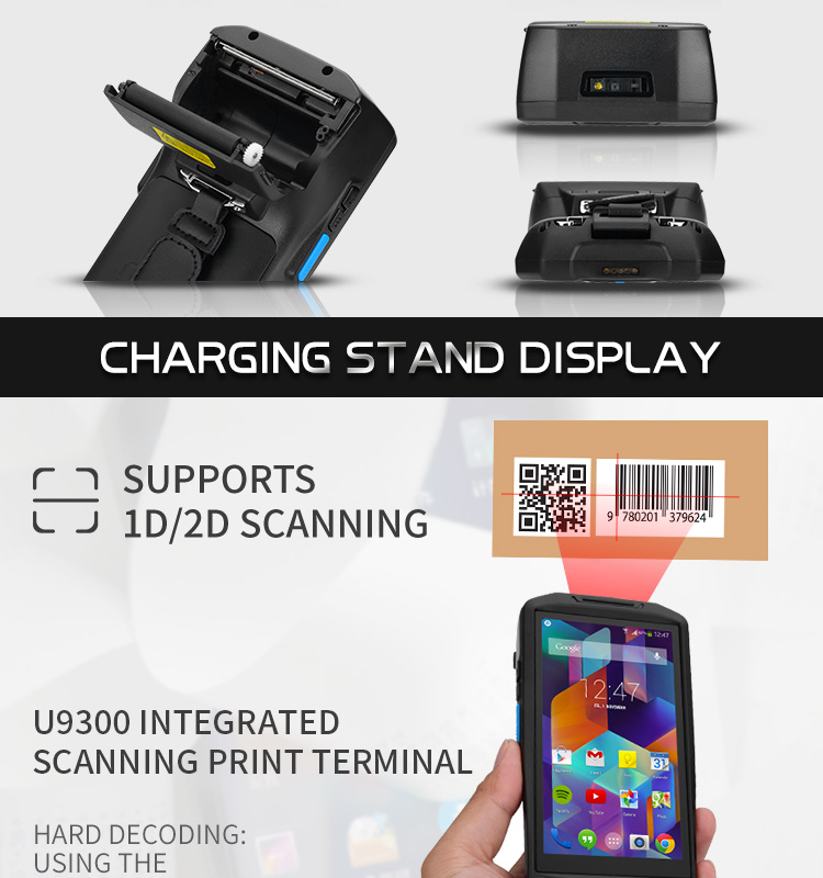 Thermal printer touch screen 2d barcode scanner mobile pda