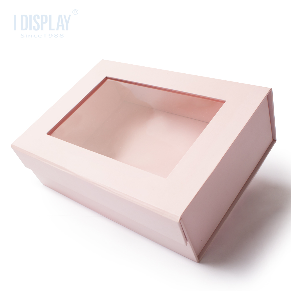 Holiday gift children's crystal shoes packaging pink luxury gift box personalized custom paper window box