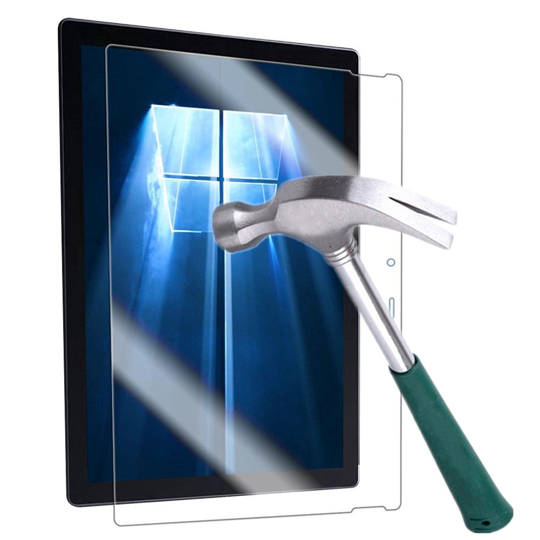 Surface Pro 4 Screen Protector,TANTEK [HD-Clear][Anti-Scratch][Anti-Glare][Anti-Fingerprint] Tempered Glass Screen Protector for Microsoft Surface Pro 4 12.3 inch (2015) ,-[1Pack]
