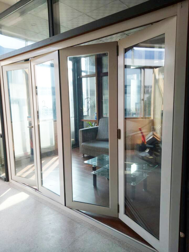 Soundproof Bi Fold Screen Door Comply With As2047,Hinge Rollers ...