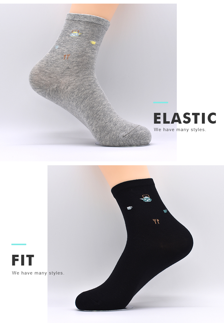 Wholesale Custom Logo Long Tube Women Ladies Compression Crew Calf Socks For Girl