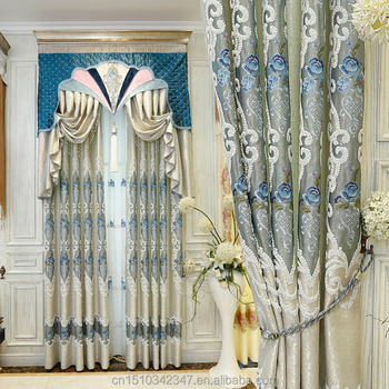 Striped Vines New Embroidered Curtain Ribbons Modern style ribbon wholesale curtains