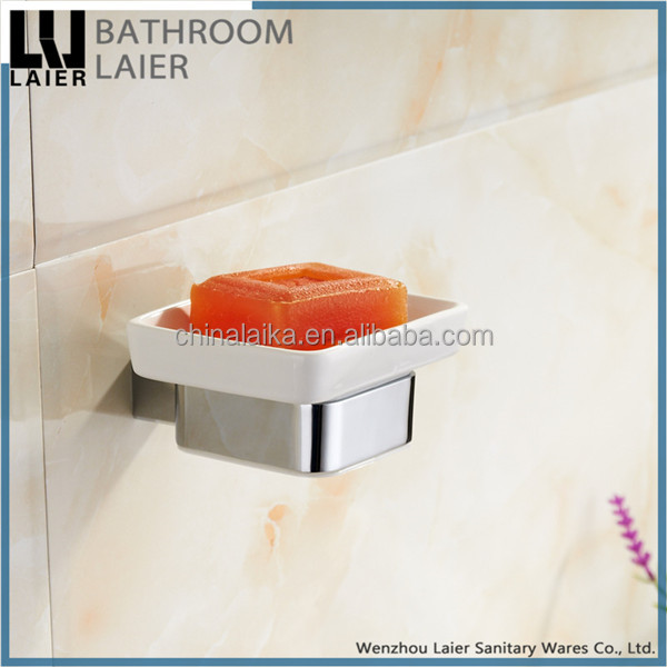 Elegant Latest Styles & Innovations Zinc Alloy Chrome Finishing Bathroom Accessories Wall Mounted Soap Dish holder
