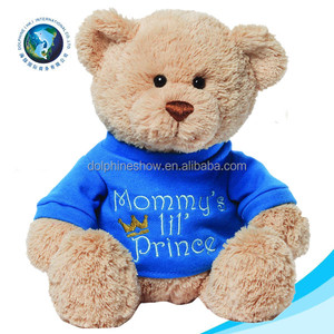 CE standard promotional custom logo plush blue teddy bear t shirts fashion personalized stuffed soft toy plush teddy bear