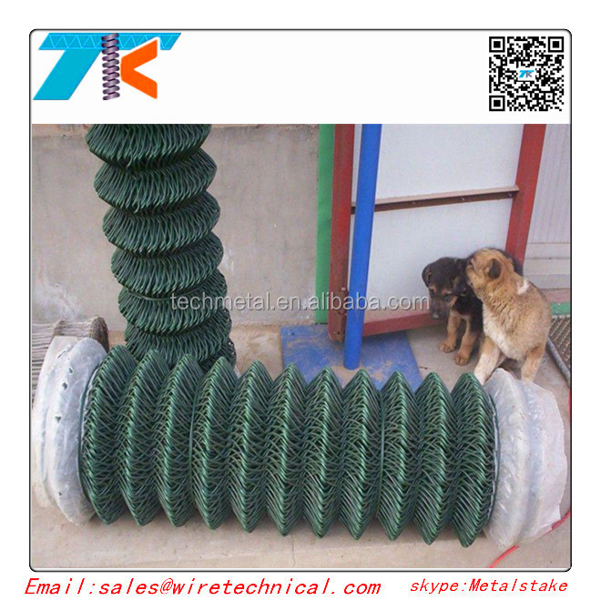 Green color Plastic coated chain link fence <strong>mesh</strong>