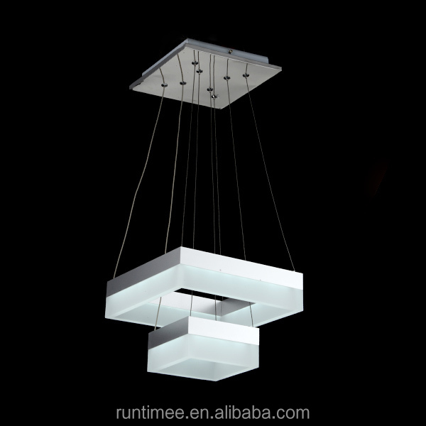 Modern Popular Square Acrylic Led Pendant Light 1803