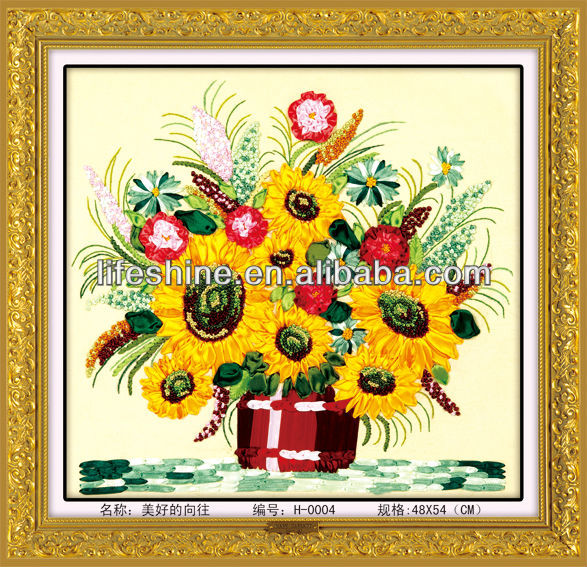 Silk Ribbon Embroidery Supplies Pictures Sunflower Buy Silk Ribbon