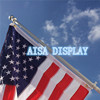 6' aluminum spinning flag pole kit