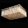 Modern square crystal pendant lamp