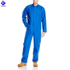Electric Blue Long-Sleeve Oversized Coverall Work Wear Uniforms