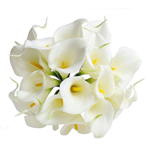 Cheap calla lily silk flowers find calla lily silk flowers deals on get quotations artificial bouquet delicate calla lily fake silk flowers wedding home decor free shipping mightylinksfo