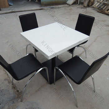 Table Et Chaise Pour Restaurant.4 Sieges Surface Solide Carre Table Et Chaise Pour Le Restaurant Buy Table Carree A 4 Places Table Et Chaise Pour Restaurant Table Et Chaise A