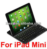 Aluminum Ultrathin Bluetooth Wireless Keyboard Stand Case w/ Keyboard for New iPad Mini Tablet KKB031