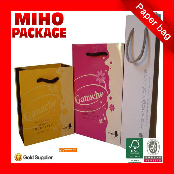 2013 best seller chevron print paper bags/birthday paper bag/wax coated paper bag