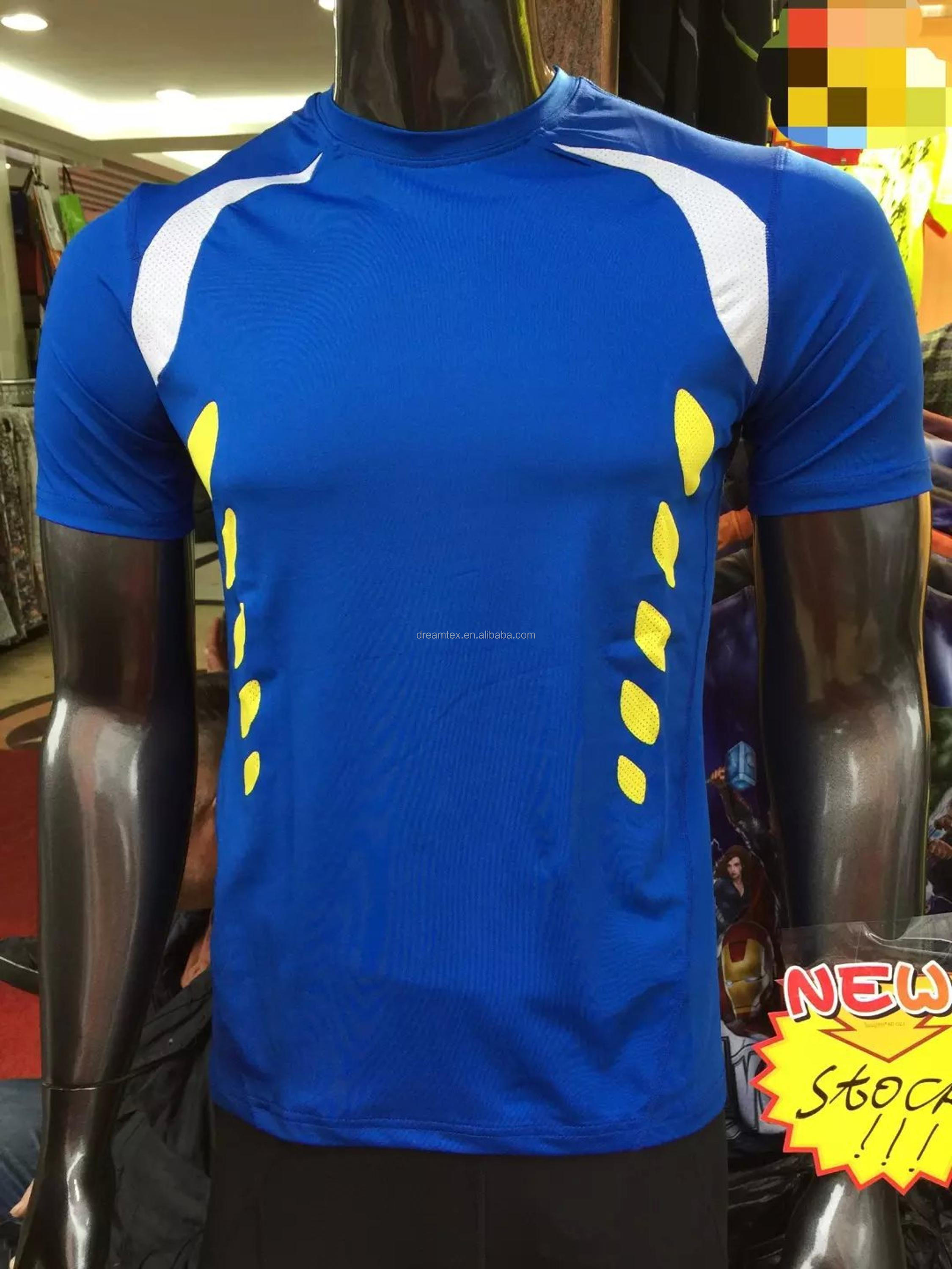 Wholesale blank plain customize logo short sleeve fitness t shirt