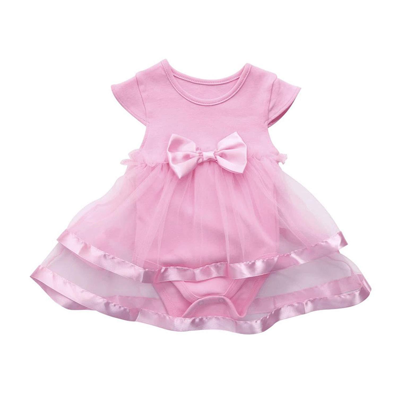 6b248174d9 Get Quotations · Molyveva Baby Girls Romper Jumpsuit Infant Baby Lace Tutu  Dress Bodysuit Clothes