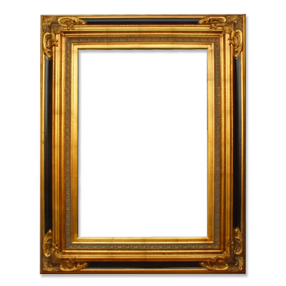 Antique Home Decoration Items Gold Wooden Oil Painting Frame with Ornate Corner