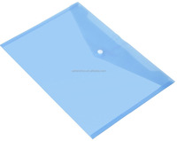 File folder manufacturer high quality custom A4 pockets PVC PP plastic clear document pouch with button