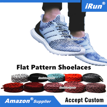 4e2286db624c7 Multiple Colors Flat Spot Stain Pattern Shoelaces Replacement for Adidas  Ultra Boost Uncaged - Free Amazon