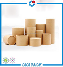Recycle Eco-friendly round gift Kraft Paper Box packaging for tea package