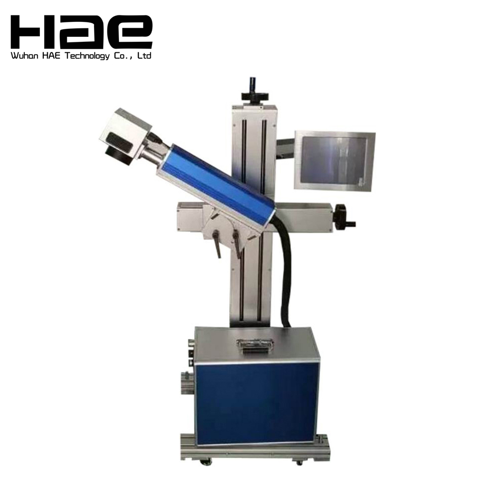 Online Flying Metal Laser Marker Plused Optical Fiber Laser Marking Machine Price