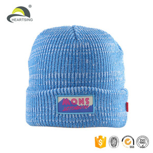 custom wholesale ladies mens cable waffle knit caps hat