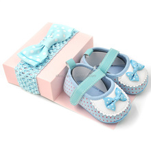 newborn girl shoes cute design infant baby crib shoes and headband