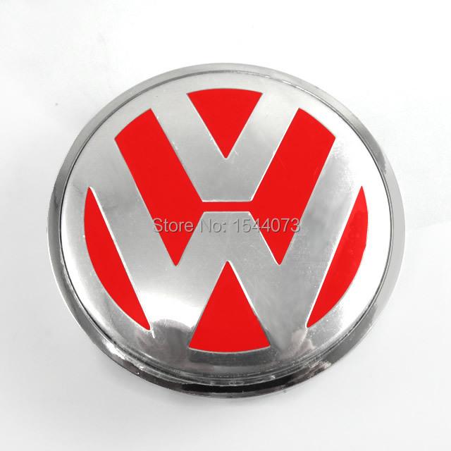 4 шт. 3B7 601 171 65 мм для VW стиль красный цвет герба знак логотип колеса центр концентратор заглушки 3b7601171
