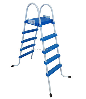 4 Steps Pool Ladders With Platform For Above Ground Swimming Pool ...