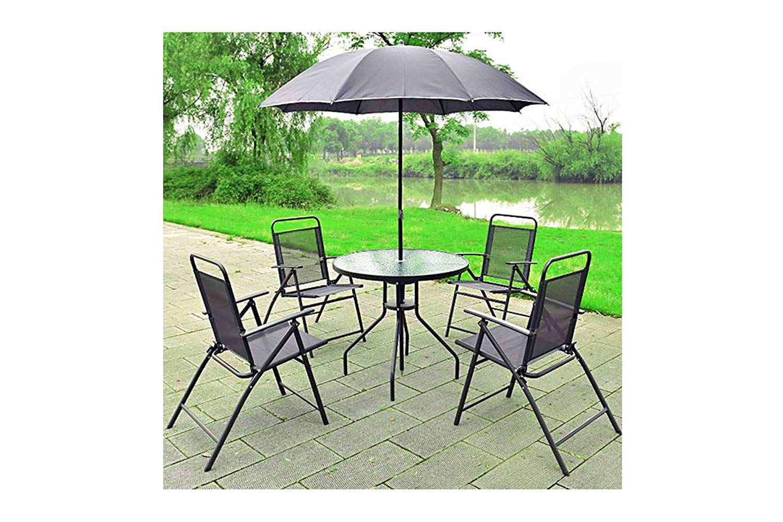 Garden Furniture Set 6 Pcs Patio Table
