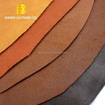 7ec11fbb6 DAMO de piel de vaca terminado genuino de cuero Material para zapatos hacer
