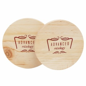 Handmade custom personalized 6 pcs pine wood carved coasters
