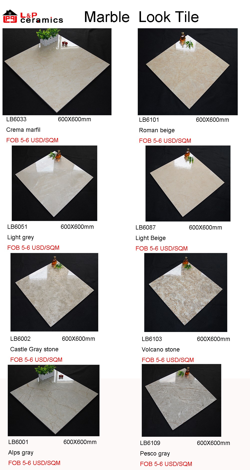 2017 new design spanish grey marble look glazed porcelain floor