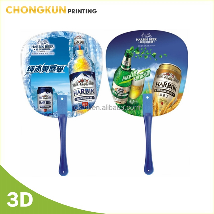 promotion printed plastic hand held fan