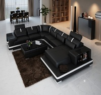 BAOCHI Leather Lounge Suite For Living Room