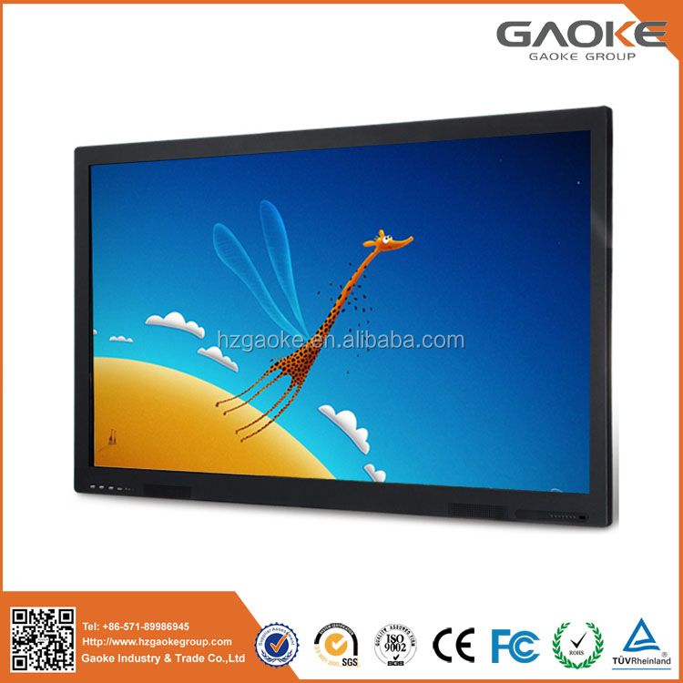 With stunning images and visibility 84'' finger touch LED all in one pc touchscreen