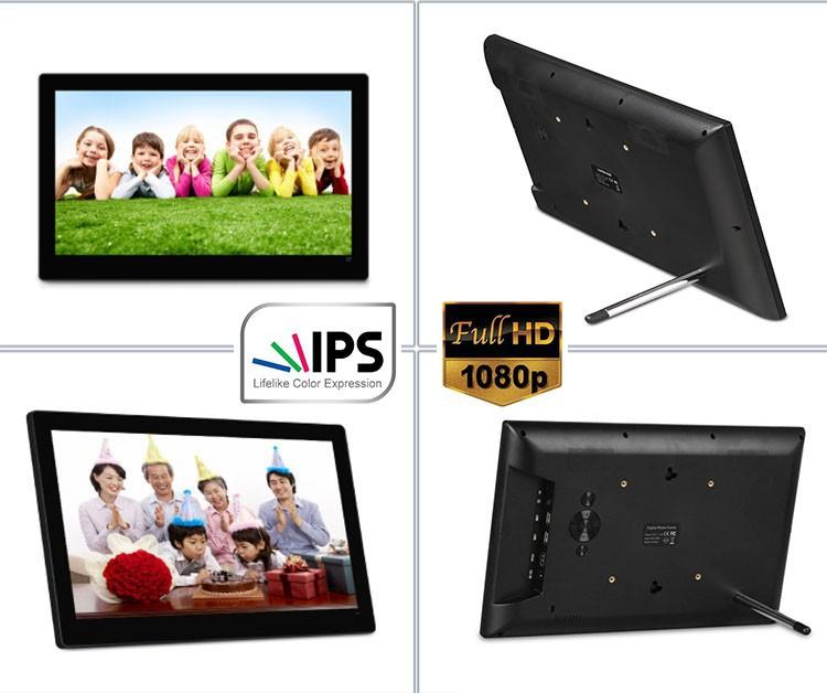 14 Inch Digital Photo Frame Widescreen Ips Panel 1600*900 16:9,Photo ...