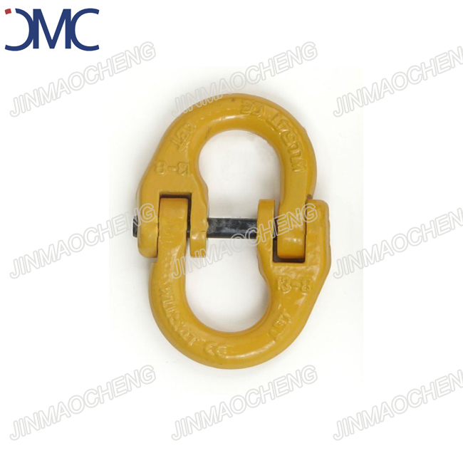Painted yellow forged chain connector connecting link