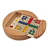 Mini Travel Indoor wooden game Ludo board game for promotion gift Chinese flying chess set
