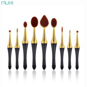 New Arrival High Quality Wooden Handle Oval Makeup Brush With Magnet