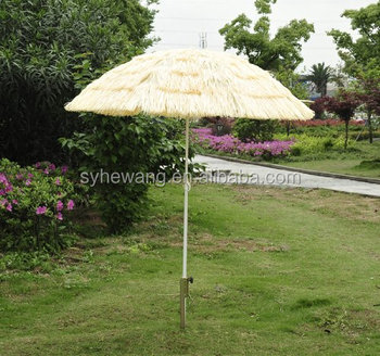 Outsunny Portable Tiki Thatch Beach Patio Umbrella 6 Feet