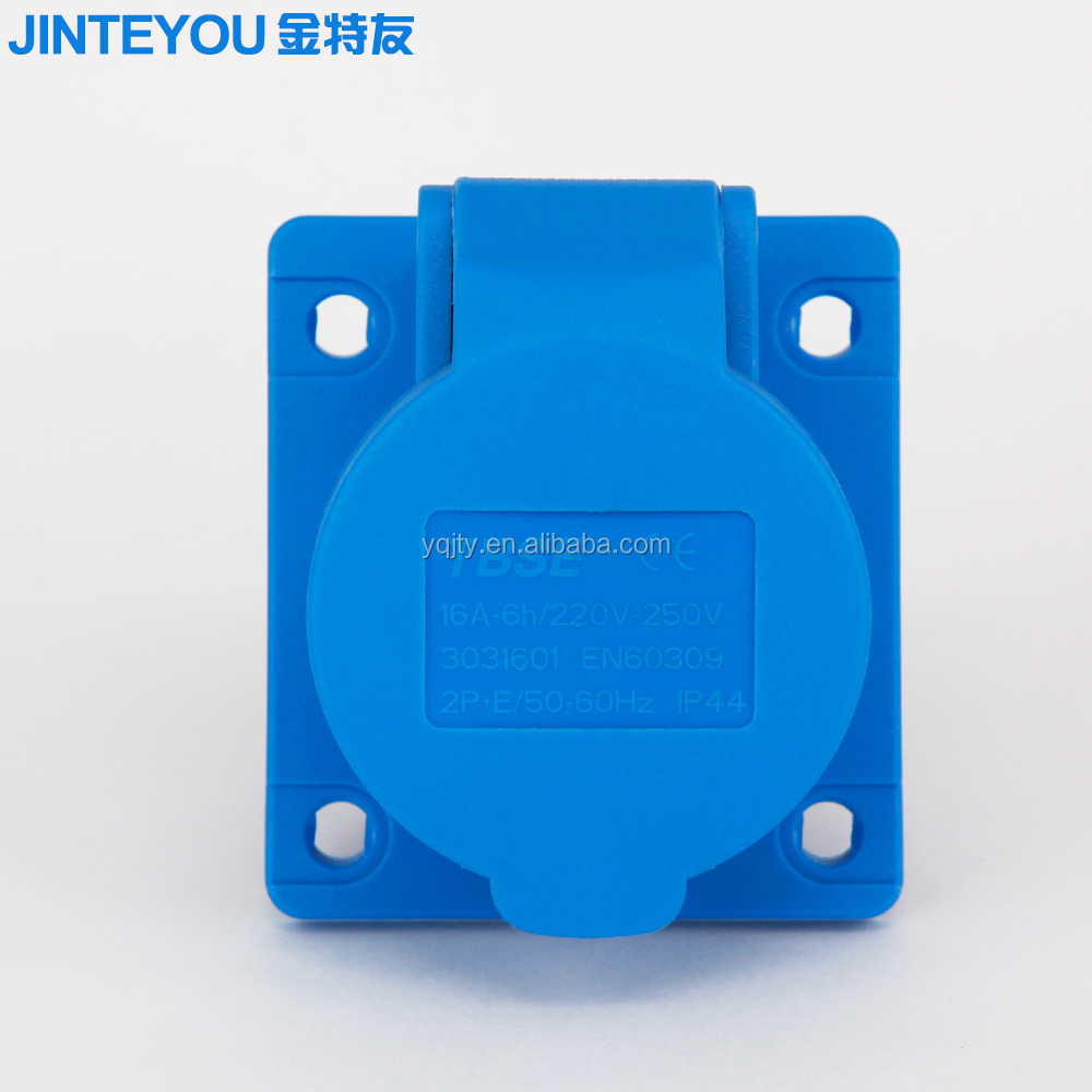 3 pin 16A 220-250V 6h inclined type industrial male and female industrial plug and socket