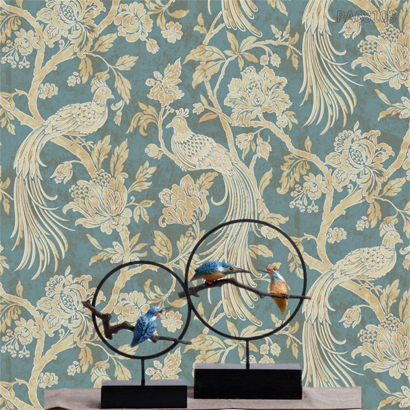 hohe qualit t gro handel pfau tapete aus china pfau tapete. Black Bedroom Furniture Sets. Home Design Ideas