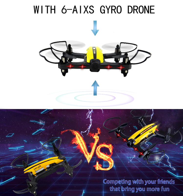 7.  T18D_Yellow_Racing_Drone_with_Altitude_Hold_WIFI_FPV_RC_Drone