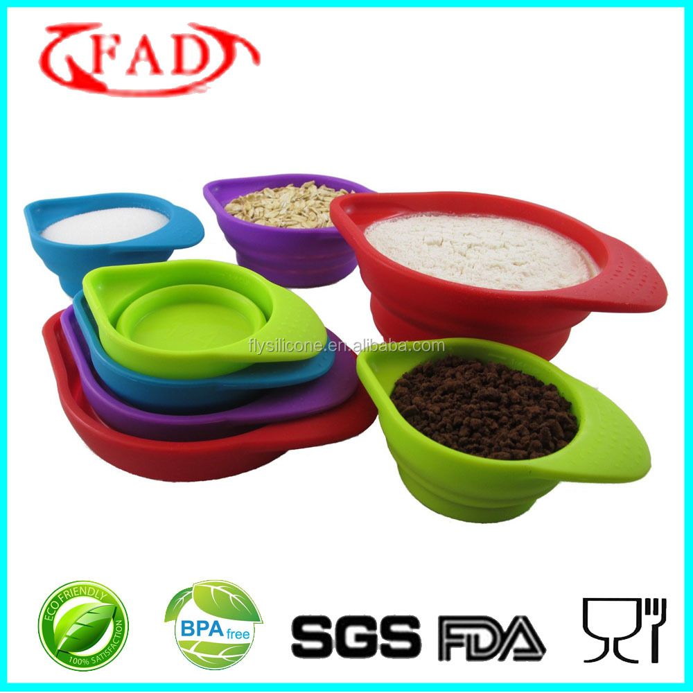 BPA free Food Preparation Collapsible Kitchen Silicone Measuring Tools