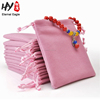 Customized recycling color printing small velvet bag